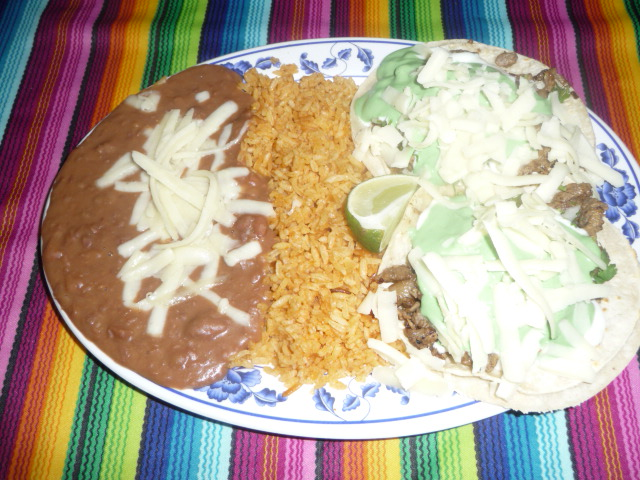 2 Super Tacos Plate